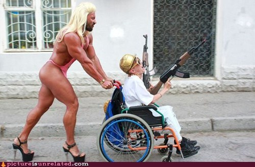 best of week,guns,nurse,sexy man,wheelchair,wtf