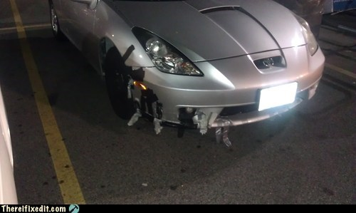 bumper celica convertible duct tape fender front bumper sports car toyota