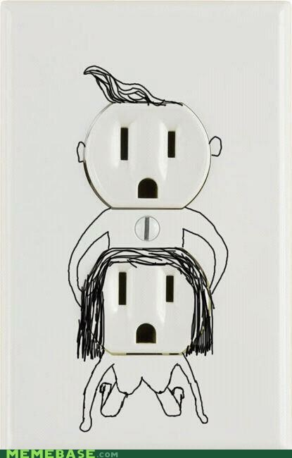 outlet plug that looks naughty - 6474991104