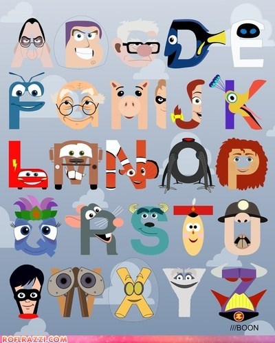 alphabet,animation,art,disney,funny,pixar