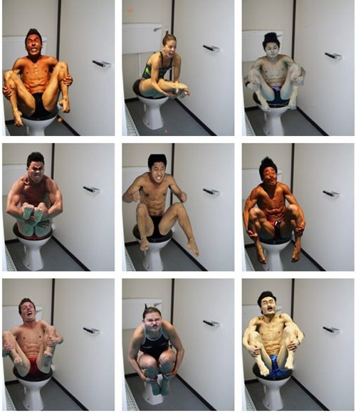 age of the internet,olympic divers,toilet humor