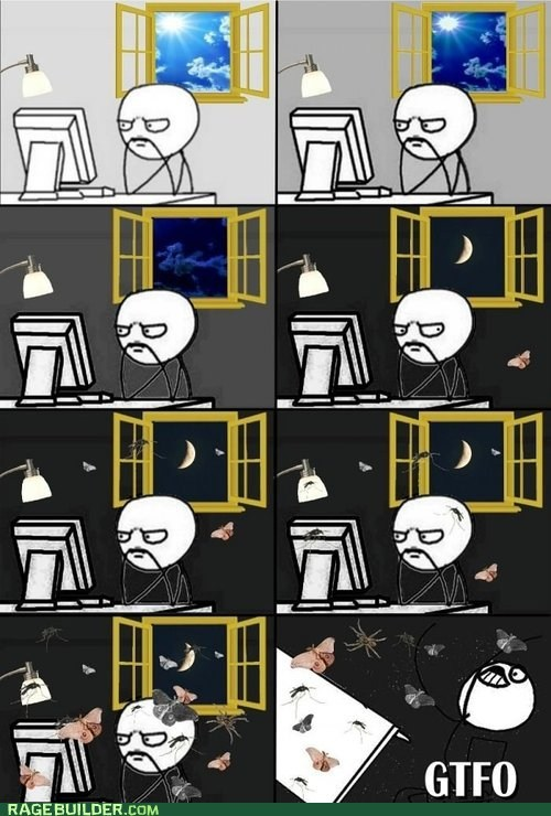 computing internetting light moth night Rage Comics - 6475324160