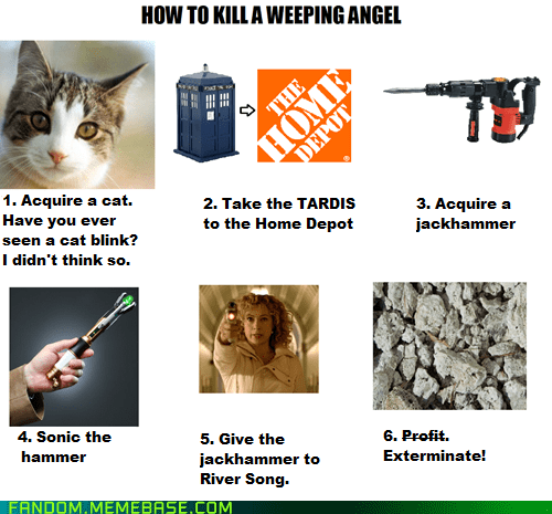bbc,doctor who,How To,scifi,weeping angels