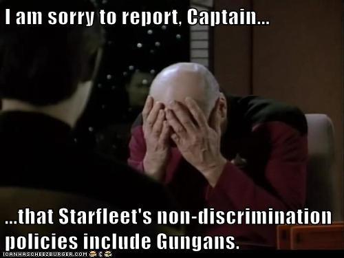brent spiner Captain Picard data facepalm gungans non-discriminatory patrick stewart starfleet - 6475417856