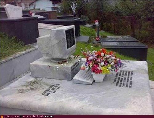 computer flowers gravestone tomb wtf - 6475491072