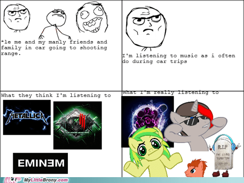 Bronies,Music,Rage Comics