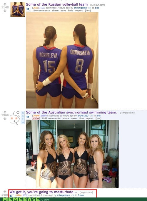 juxtaposition Reddit sports swimmings the m word