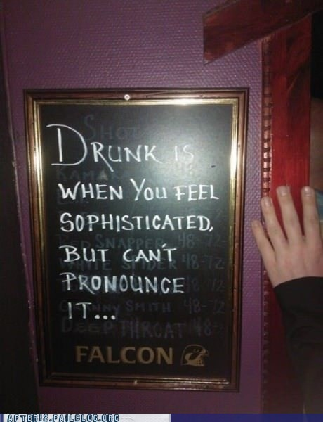 bar sign drunk sophisticated