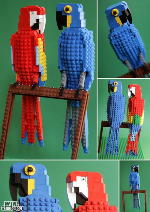 cute,design,lego,nerdgasm,parrot