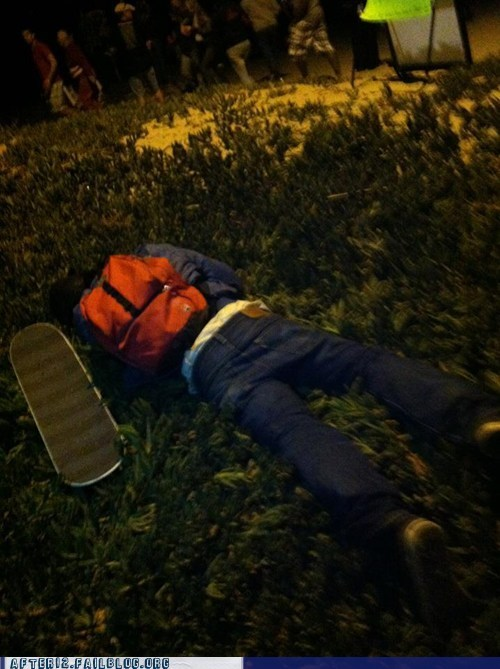 passed out sk8r boi skateboard