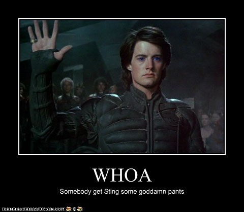 Dune hold up kyle maclachlan pants paul atreides sting stop whoa