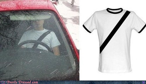 accident bad decision car driving safety seat belt shirt