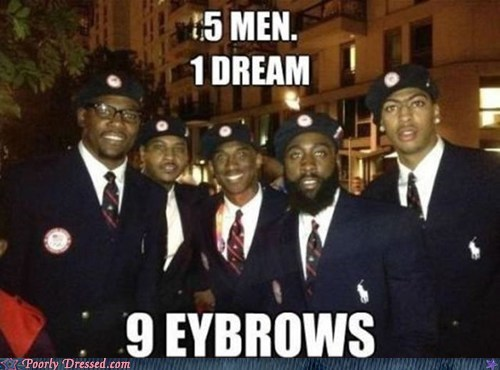 basketball dream team olympics unibrow - 6477032192