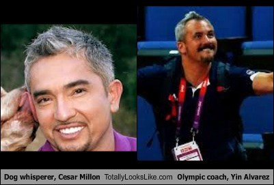 Dog whisperer, Cesar Millon Totally Looks Like Olympic coach, Yin Alvarez