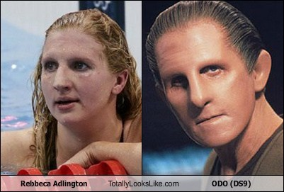 ds9,funny,London 2012,odo,olympics,rebecca adlington,Star Trek,TLL