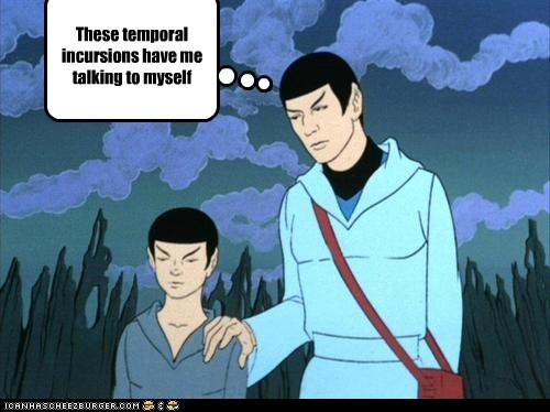 crazy,kid,Spock,Star Trek,talking to yourself,the animated series,time travel