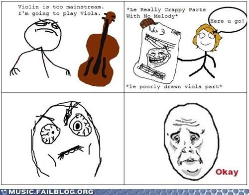 comic rage comic Viola violin - 6477975296