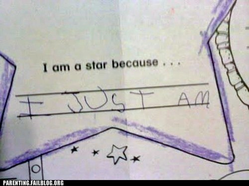 childrens-writing,star