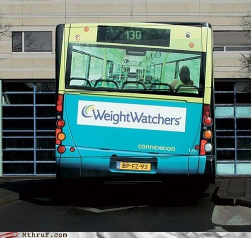 advertisement,bus,weight watchers