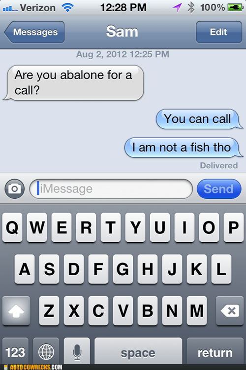 abalone autocorrected fish im-not-a-fish - 6478259456