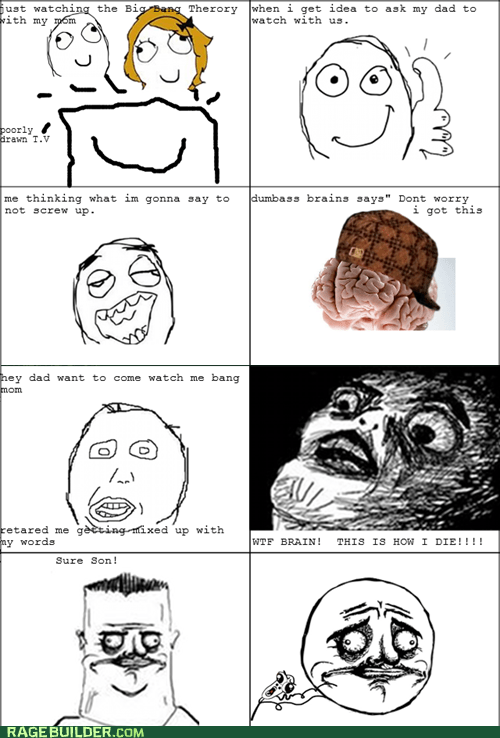how i met your mother,Rage Comics,raisin face,scumbag brain