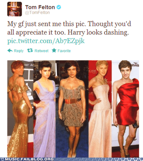 cross dressing,one direction,tweet,twitter