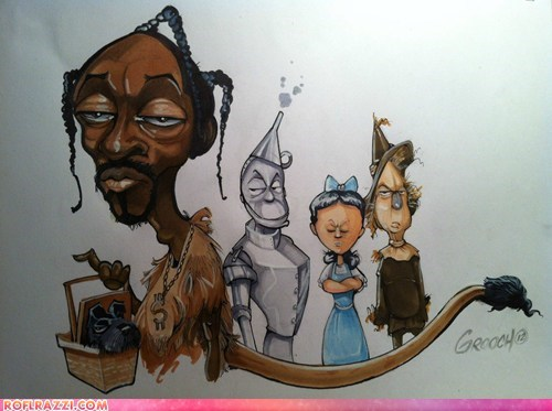 art celeb funny Music rap snoop dogg snoop lion wizard of oz - 6478339584
