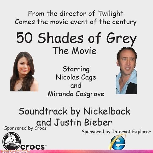 actor,celeb,fifty shades of grey,funny,miranda cosgrove,Movie,nic cage,nicolas cage