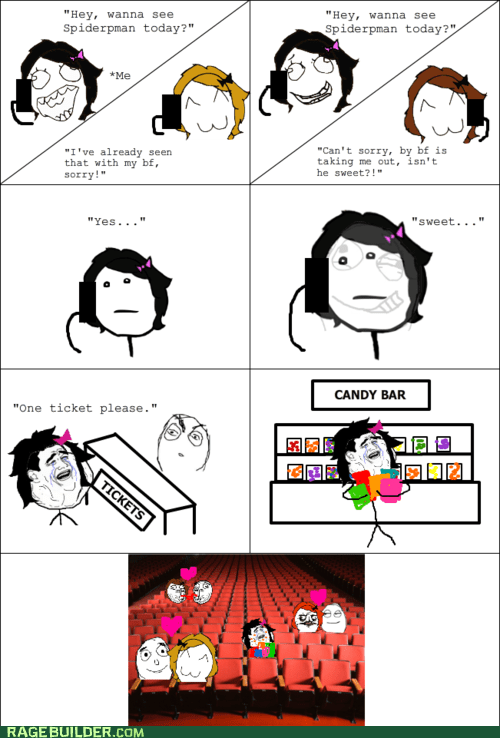 forever alone,friends,movies,Rage Comics