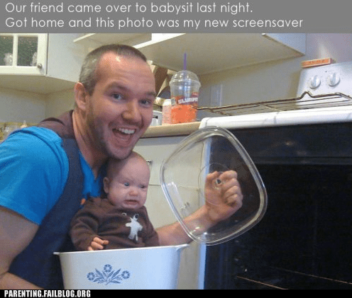 babysitters,cooking,failbook,g rated,oven,prank,screensaver