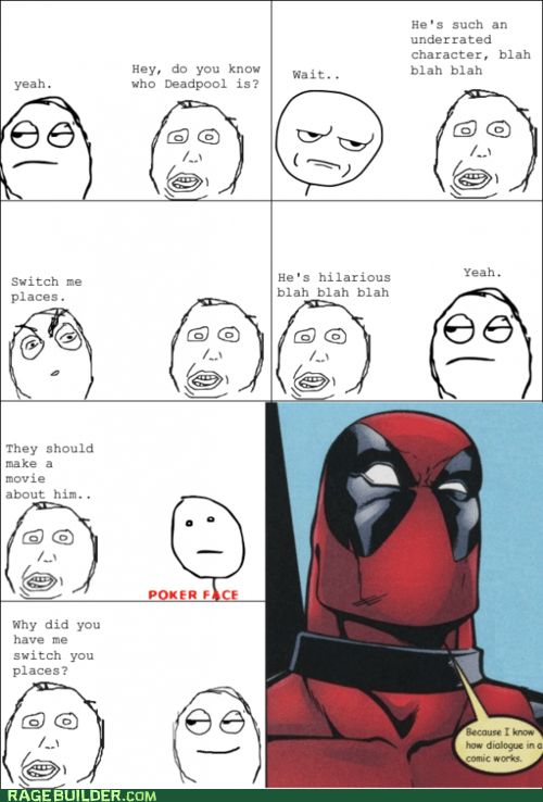 deadpool,meta,poker face,Rage Comics