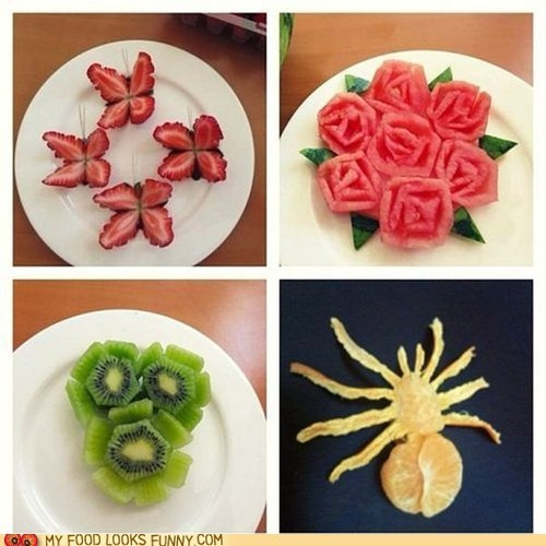 art butterflies carved flowers fruit spider