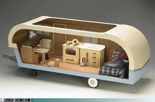 dogs dollhouse miniature trailers