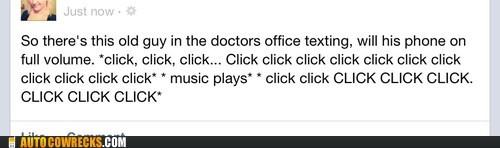 annoying click click click loud texting texting - 6478794752