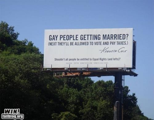 billboard Kenneth Cole LGBT sign troofax true facts