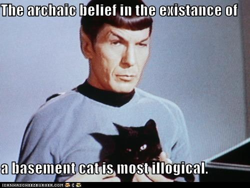 basement cat Cats classic classics logic Spock Star Trek
