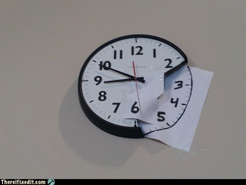 broken clock clock g rated there I fixed it wall clock