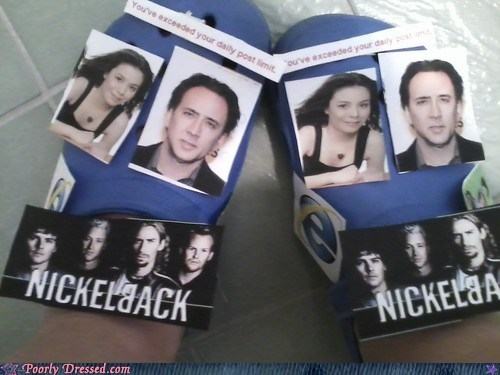 crocs nicholas cage nickelback shoes the actual worst the worst