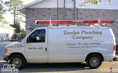 best of week business g rated Hall of Fame plumbing pun van win zombie - 6479190272