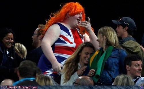 crossdressing england olympics shirt UK union jack - 6479190784
