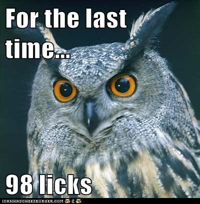 answer captions commercial how many licks Owl tootsie pop - 6479272192