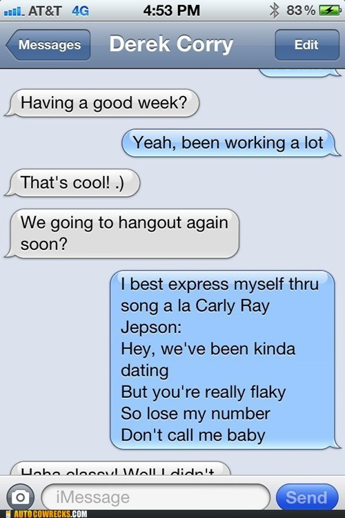 carly rae jepsen,good week,hangout,working a lot