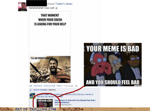 facebook relationships your meme is bad - 6479643648