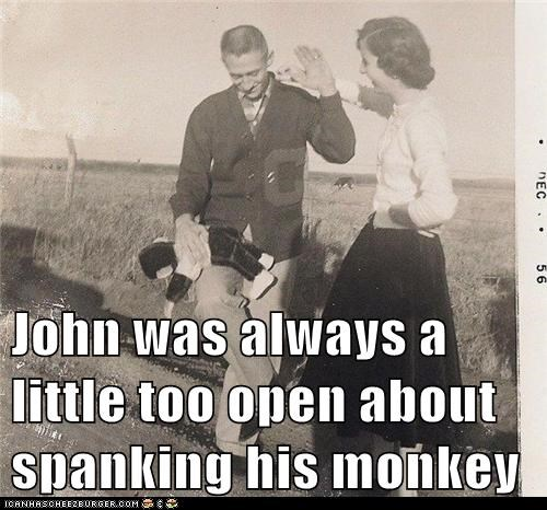 historic lols,man,monkey,spank,woman