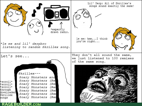 Music Rage Comics raisin face skrillex