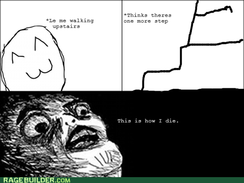 Rage Comics raisin face stairs steps - 6479863552