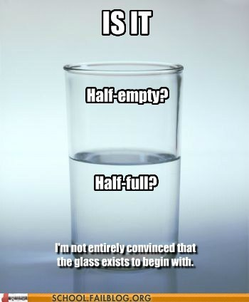 half empty,half full,not convinced,radical doubt
