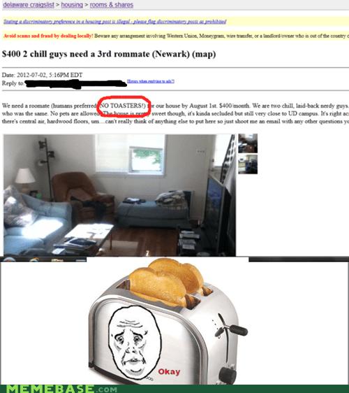 craigslist roommates shoppers beware toasters - 6480520192
