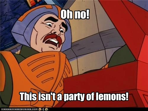 Oh no! This isn't a party of lemons!