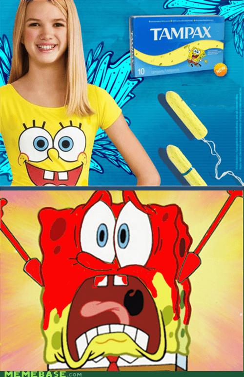 best of week ladytimes Memes SpongeBob SquarePants tampons wtf - 6480948480